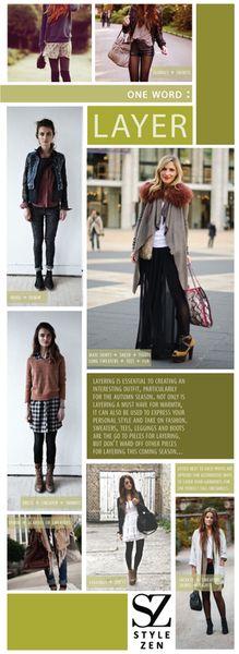 StyleZen Inspirations - One Word: Layer.