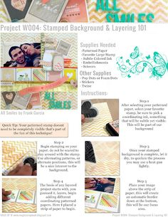 Stamped Background and layering 101