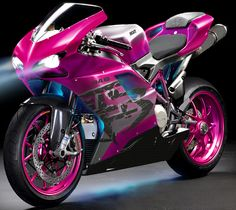 Pink Ducati...my next goal In life is to get this !!! I always achieve my goals…