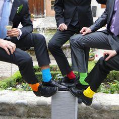 De belles chaussettes colorées pour un jour inoubliable!