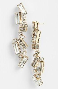 St. John Collection Crystal Chandelier Earrings available at #Nordstrom