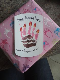Baby Handprint B-day Card