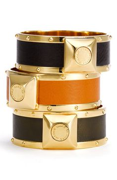 Marc by Marc Jacobs 'Concrete Jungle' Skinny Leather Bangles