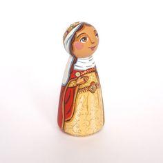 St Helena peg doll Saint Helena peg doll St by UnderAngelWings