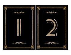 DIY Printable Table numbers for your Great by PSPrintables on Etsy, $6.00