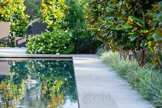 Vast Formal Garden By Landscape Designer Peter Fudge - Nestled on half a hectare of land in Sydney's northern suburbs is a formal garden by acclaimed la - Backyard Pool Landscaping, Landscaping With Rocks, Landscaping Ideas, Backyard Plants, Backyard Designs, Landscaping Plants, Pool Landscape Design, Garden Design, Patio Design