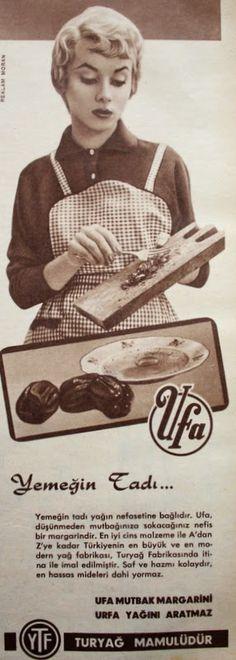 OĞUZ TOPOĞLU : ufa margarin 1959 nostaljik eski reklamlar 3