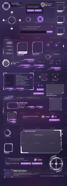 Buy MMO RPG - Full Mafia Game UI by anchor_point_heshan on GraphicRiver. MMO RPG Sci-fi style Game UI for Mafia Game This file contains the most needed layouts and UI elements you need to de. Game Design, Graphisches Design, Web Design Trends, Icon Design, Graphic Design, Ios App Design, Mobile Ui Design, Dashboard Design, App Design Inspiration