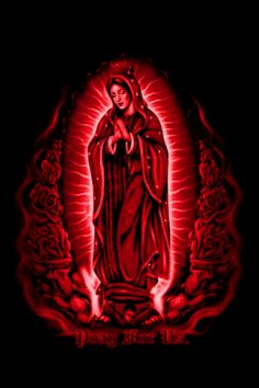 Free Virgen Maria Green,White,Red phone wallpaper by azteka1214