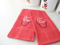 Set of Chef Mickey Kitchen Towels  Custom Embroidered by hpiehl, $18.00