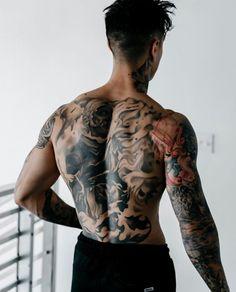 Hot Guys Tattoos, Dope Tattoos, Body Art Tattoos, Sleeve Tattoos, Inked Men, Inked Girls, Korean Boys Hot, Korean Men Hairstyle, Special Tattoos