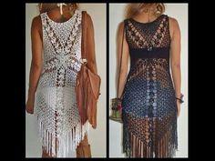 preciosa blusa o vestido muy facil de realizar en cualquier talla ideal para principantes, material del video: http://lanacongancho.com grupo de facebook: ht...
