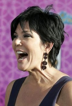 Kris Jenner Hairstyle Back View | Kris Jenner, wife of Bruce Jenner, arrives at the premiere of the ...