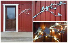 Bird wall decor. Suomalaista käsityötä - Siluettiverstas