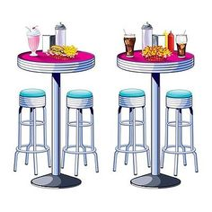 Retro-50s-Diner-SODA-SHOP-PROPS-Party-Wall-Decorations-SOCKHOP-Grease