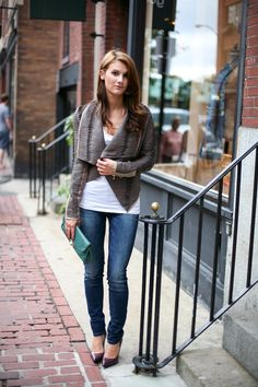 Cute leather jacket outfit...