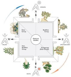 The garden of healing, home of the Medicine Buddha, the Tanadug Garden