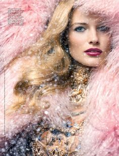 00646fbc40e Edita Vilkeviciute by Raymond Meier is a Winter Beauty for Allure Russia  December 2012 Cover Shoot