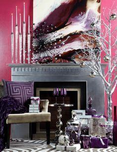 Purple Accent Walls on Pinterest