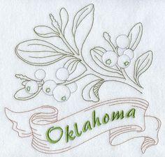 Oklahoma - Mistletoe (Redwork)