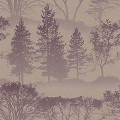 purple tree wallpaper... dining room?