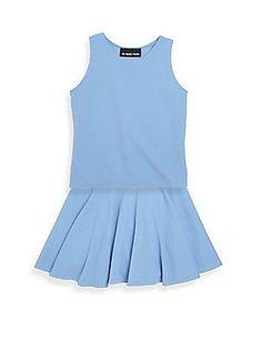 Un Deux Trois Girl's Two-Piece Top & Skirt Set - Peri Blue
