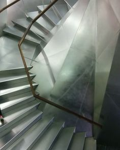 Digging this #staircase at La Caixa Forum. #architecture #Madrid #interiordesign #interior #stainlesssteel