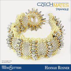 CzechMates Triangle bracelet by Starman TrendSetter Hannah Rosner