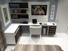 DIY Corner Desk Design Idea For Your Home Office. Top out of this world corner desk ideas wayfair black best office table computer with hutch creativity desks wayfield furniture white writing. Study Room Design, Design Studio Office, Office Interior Design, Office Interiors, Home Office Bedroom, Home Office Decor, Home Decor, Office Table, Bureau Design