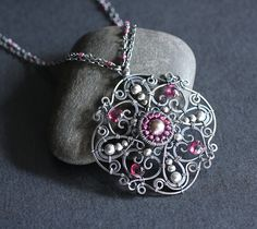 The Rose of Versailles Necklace by earringsbyerin, via Flickr