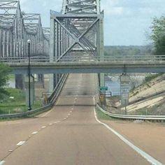 Natchez,  MS crossing the Mighty Missassip entering Louisiana.