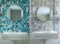 bathroom mosaics Hotel Aiglon Paris