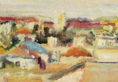 "David Garshen Bomberg (English, 1890 – 1957) ""Jerusalem"", 1924 or 1925"