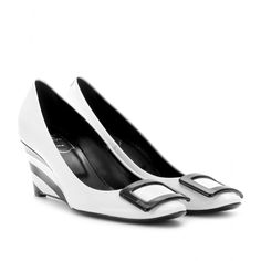 mytheresa.com - Roger Vivier - BELLE DE NUIT BOXCALF WEDGES - Luxury Fashion for Women / Designer clothing, shoes, bags