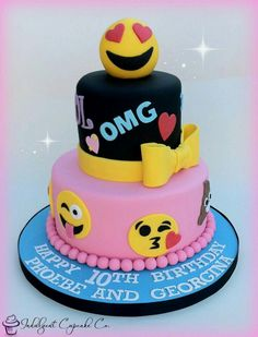 Bizcocho Torta Emoji Emoticon Cake Girl Cakes 11th Birthday