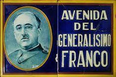 A Franco se le otorgaba una calle una plaza o una avenida en todas las ciudades y pueblos Baseball Cards, Plaza, Sports, War, Vintage Ads, Empire, Historia, Past Tense, Street
