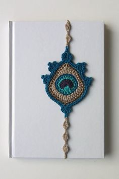 Crochet Bookmark Peacock Feather