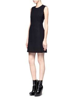 VICTORIA, VICTORIA BECKHAM Sleeveless felt dress