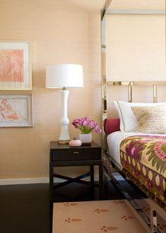 chrome bed via Angie Hranowsky's (http://www.angiehranowsky.com/) sneak peek on http://www.designsponge.com/