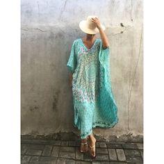 Kaftan Maxi dress,pluse size women's,Beach dress ,evening dress, hand... ($39) ❤ liked on Polyvore featuring maxi kaftan, beach caftan, beach kaftan and beaded kaftan