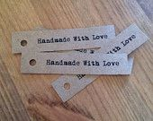 Handmade With Love wedding favour tags