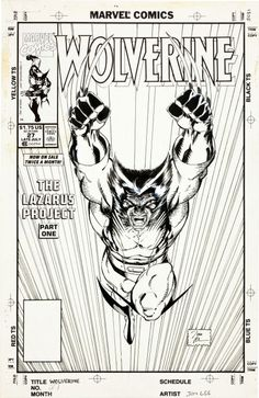 Jim Lee Wolverine Cover Original Art (Marvel, If you are in dire need of an insanely iconic cover - Available at 2012 July Vintage Comics. Comic Book Pages, Comic Book Artists, Comic Book Covers, Comic Artist, Comic Books Art, Hq Marvel, Marvel Comics, Comic Book Drawing, Jim Lee Art