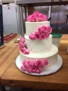 Mazzetti's Bakery. Pacifica, California. Wedding cakes. Delicious. Pink flowers.  Beautiful. Cake. www.mazzettisbakery.com