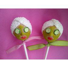 Spa day cake pops - so funny LaBellaFaccia.com - Campbell - CA