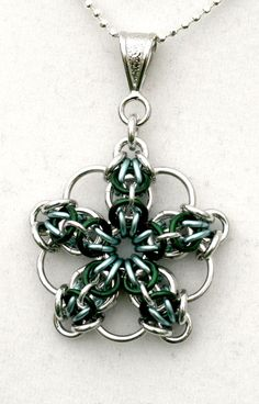 Astera Green  Aluminum and Enameled Copper by EclecticArtbyCynthia, $20.00