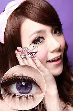 Venus Colored Contacts Circle Lens purple violet (-3.50, both right and left)