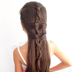 Fishtail Braid inspired by @karen24kinnaird done by @mimiamassari