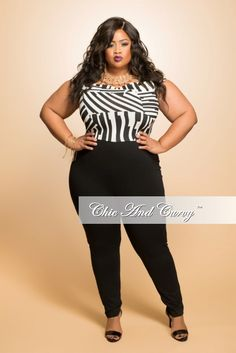 eb2b8c1c4 50% Off Sale - Final Sale Plus Size Off the Shoulder Sleeveless Jumpsuit in  Black and White. Black Bodycon DressPeplum DressWhite ChicCurvy ...