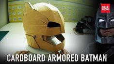 #115.1: Armored Batman Mech Suit Helmet Pt.1 - Cardboard (free download) Costume…