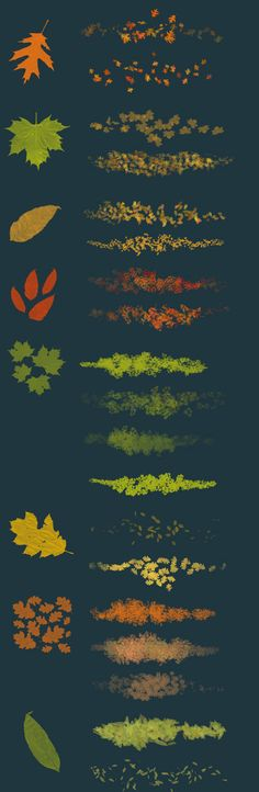 Leaves - photoshop brushes by on DeviantArt Free Photoshop, Photoshop Brushes, Photoshop Tutorial, Psd Brushes, Digital Art Tutorial, Digital Painting Tutorials, Art Tutorials, Drawing Tips, Drawing Reference